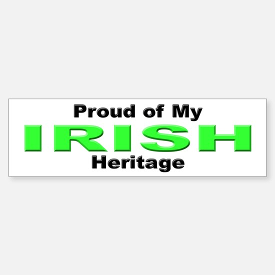Proud Irish Heritage Bumper Bumper Bumper Sticker