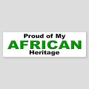Proud African Heritage Bumper Sticker