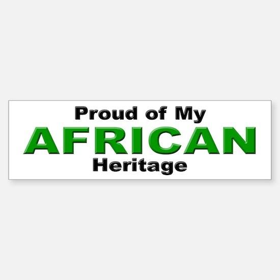 Proud African Heritage Bumper Bumper Bumper Sticker