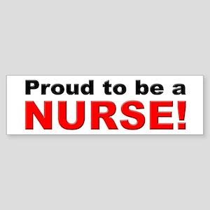 Proud Nurse Bumper Sticker