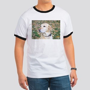 Yellow Lab #2 Portrait Ringer T
