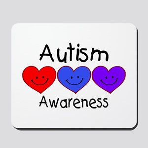 Autism Awareness (Hearts) Mousepad