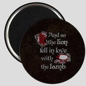 Twilight Lion and Lamb Magnet