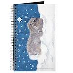 Rabbit in Winter snow Journal