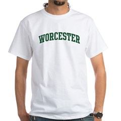 Worcester (green) White T-Shirt