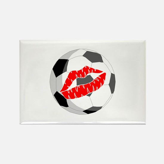 Soccer (Kiss) Rectangle Magnet