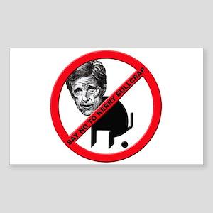 No John Kerry Bullcrap Rectangle Sticker