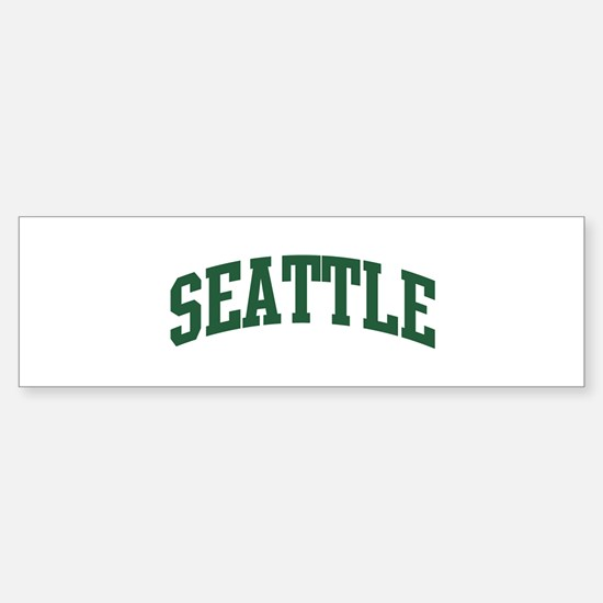 Seattle (green) Bumper Bumper Bumper Sticker