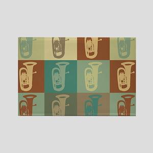 Tuba Pop Art Rectangle Magnet