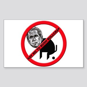 No George Bush Bullcrap Rectangle Sticker