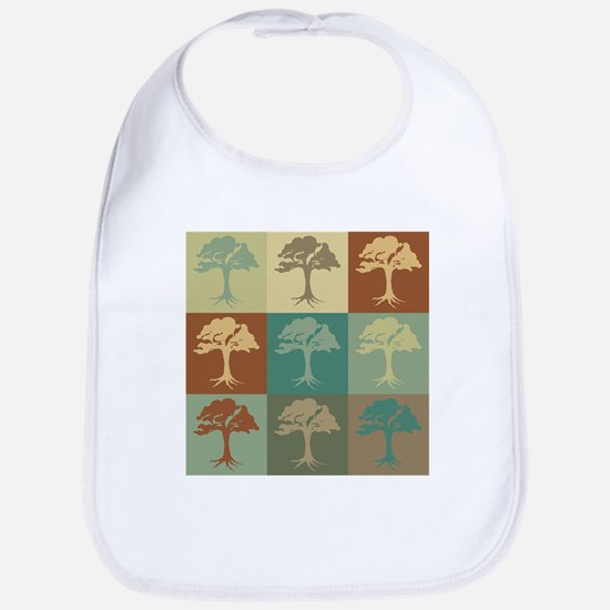 Trees Pop Art Bib