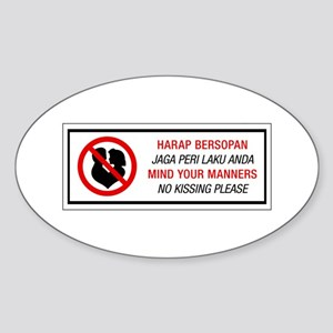 No Kissing, Malaysia Oval Sticker