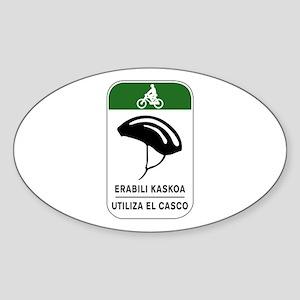 Use The Helmet, Spain Oval Sticker