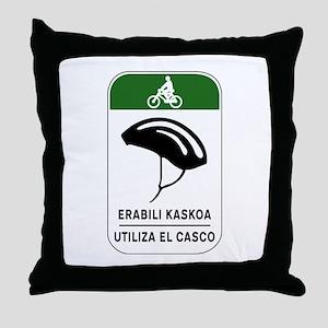 Use The Helmet, Spain Throw Pillow