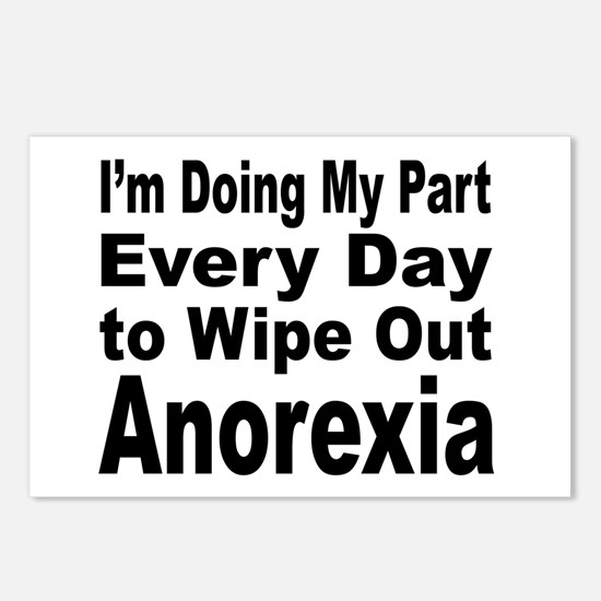 Anorexia Anti Diet Postcards (Package of 8)