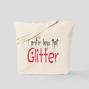 Prefer boys that Glitter Tote Bag