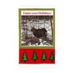 Enjoy Your Holiday! by Khonce Rectangle Sticker