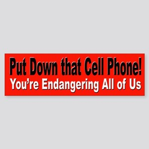 Cell Phone Drivers Bumper Sticker for Road Trips