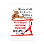EB Info World Rectangle Sticker