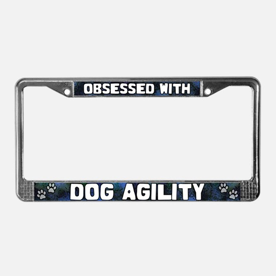 Obsessed with Dog Agility License Plate Frame
