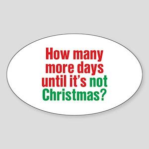 Not Christmas Oval Sticker
