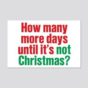 Not Christmas Mini Poster Print