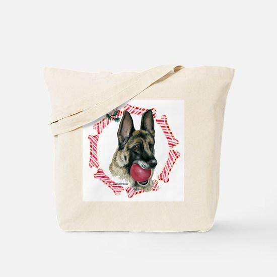 German Shepherd Xmas Tote Bag