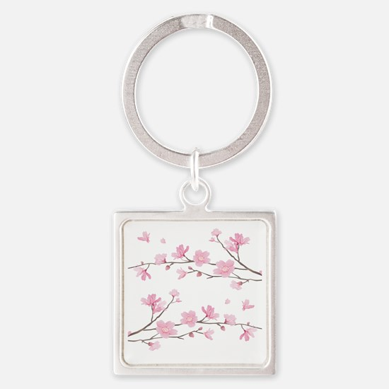 Cool Cherry Square Keychain