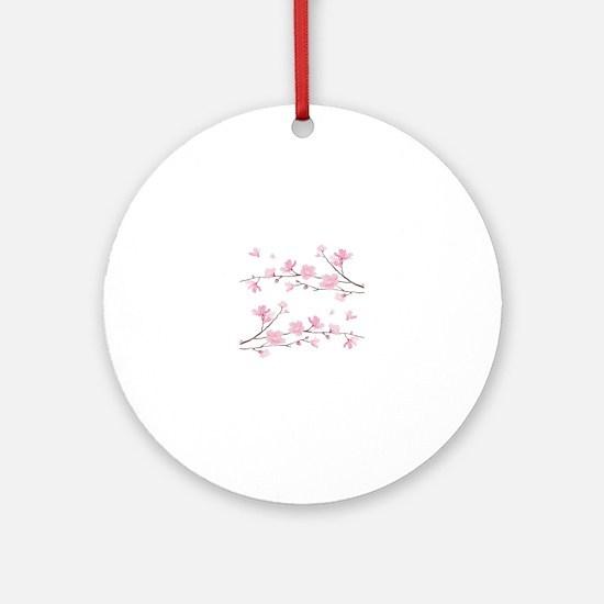 Cute Cherry blossom Round Ornament