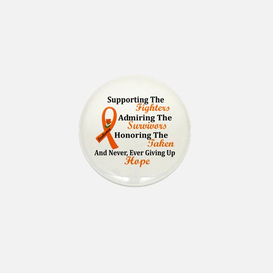 Supporting Admiring Honoring 2 LEUKEMIA Mini Butto