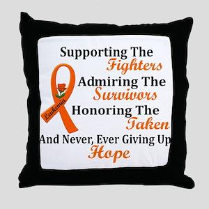 Supporting Admiring Honoring 2 LEUKEMIA Throw Pill