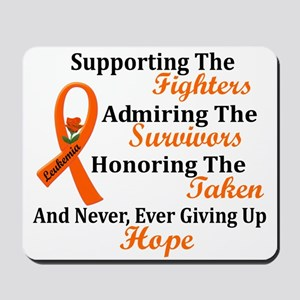 Supporting Admiring Honoring 2 LEUKEMIA Mousepad