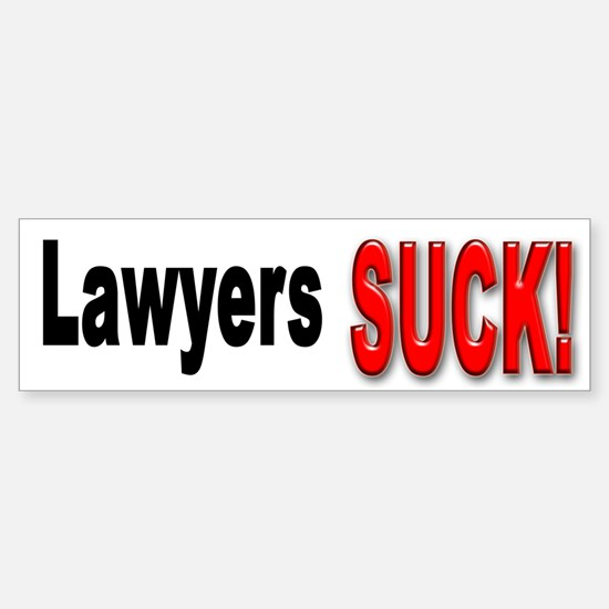 Lawyers Suck Bumper Bumper Bumper Sticker
