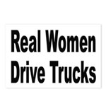 Real Women Drive Trucks Postcards (Package of 8)