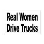 Real Women Drive Trucks Mini Poster Print
