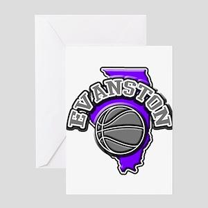 Evanston Basketball Greeting Card