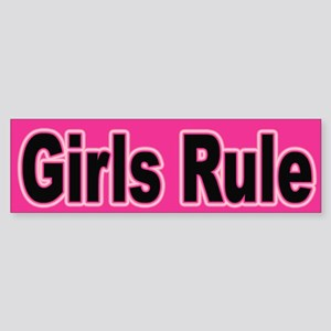 Girls Rule Bumper Sticker for Confident Women