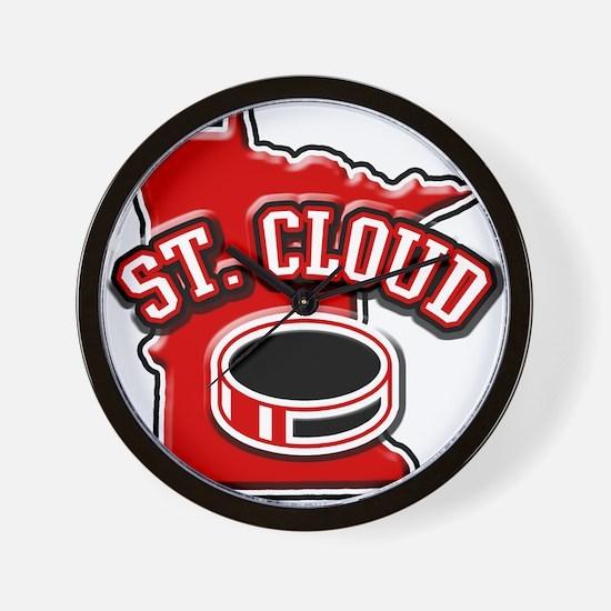 St. Cloud Hockey Wall Clock