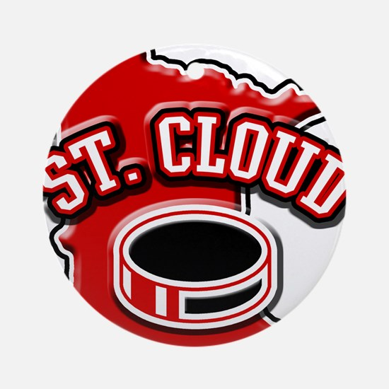 St. Cloud Hockey Ornament (Round)