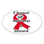 EB Info World Oval Sticker