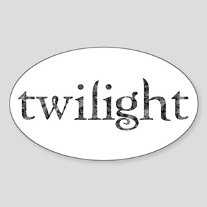 Twilight Oval Sticker
