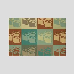 Sushi Pop Art Rectangle Magnet