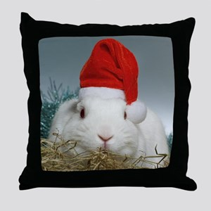 Santa Bunny Throw Pillow