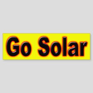 Go Solar Bumper Sticker for a clean environment