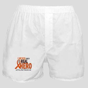 Never Knew A Hero 2 ORANGE (Aunt) Boxer Shorts