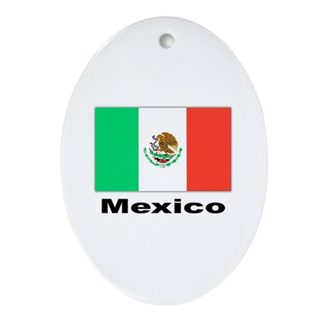 Mexico Mexican Flag Keepsake (Oval)