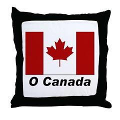 O Canada Flag Throw Pillow