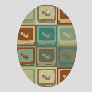 Sonograms Pop Art Oval Ornament