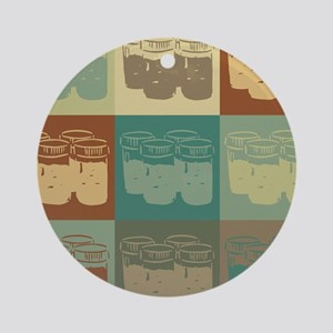 Soil Science Pop Art Ornament (Round)