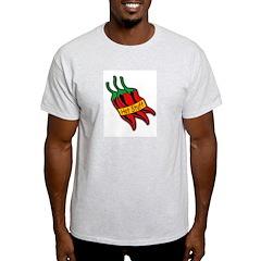 Hot Stuff Pepper (Front) Ash Grey T-Shirt
